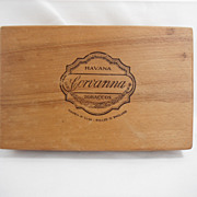1960s London Corvanna Havana  Wooden Cigar Box