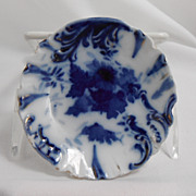Flow Blue Relish Dish from Germany, early 1900s