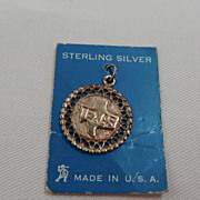 Silver Charm - State of Texas Outline and Medallion