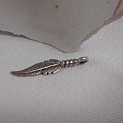 Sterling Silver Charm - Indian Feather
