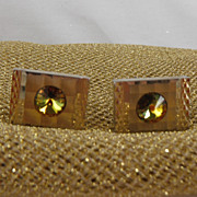 Vintage Goldtone English Cufflinks from the 1960s