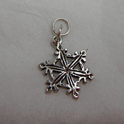 Sterling Silver Charm - Big Snowflake