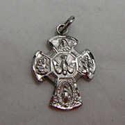 Sterling Silver Charm or Small Pendant - Catholic Pendant or Cross