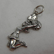 Sterling Silver Charm - Old Fashioned Cheerleader