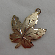 Sterling Silver with Vermeil Charm - Maple Leaf