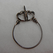 Sterling Silver Pendant - Double Heart Add-on Pendant