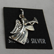 Sterling Silver Charm - Trumpeting Angel