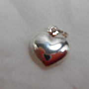 Sterling Silver Charm - Puffy Heart