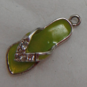 Sterling Silver Charm - Enameled Sandel