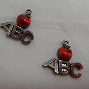 Sterling Silver Charm - ABC Apple