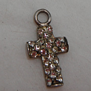 Sterling Silver Charm - Crystal Cross