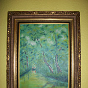 SOLD Later 20th century European Impressionist-style oil painting