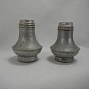Space Age Aluminum Salt and Pepper Shakers Mid Century