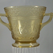 Patrician by Federal, Depression Glass Yellow/Amber Sugar Bowl