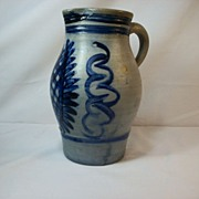 French Salt Glaze Pitcher (A)
