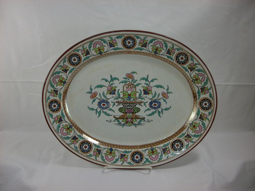 Burgess & Leigh Teheran polychrome serving platter