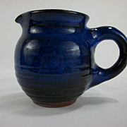 Harding Black Milk Pitcher Oxidation Blue over Black Red Clay