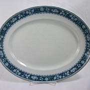 Arthur J Wilkinson Maple serving platter in green