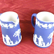 Wedgwood Dark Blue Jasperware Pitchers 1910