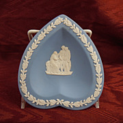 Wedgwood Light Blue Jasperware Heart Shaped Sweet or Candy Dish 1952