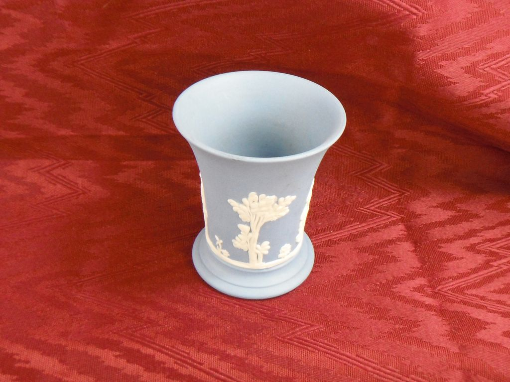 Wedgwood Jasperware Small Light Blue Bud Vase