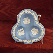 Wedgwood Jasperware Light Blue Sweet or Candy Dish, Club Shape 1952