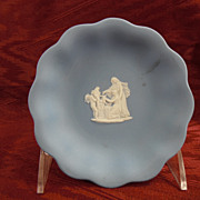 Wedgwood Light Blue Jasperware Ruffled Edge Nut Dishes, 1958