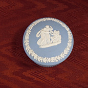 Wedgwood Light Blue Jasperware Round Pin Dish, 1966