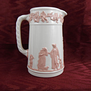 SALE Wedgwood Queensware White with Pink Pitcher, 1930