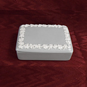 Wedgwood Gray or Grey and White Queensware Trinket Dish, 1935
