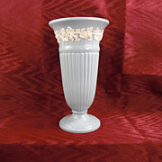 SALE Wedgwood Queensware Blue and White Vase, 1957