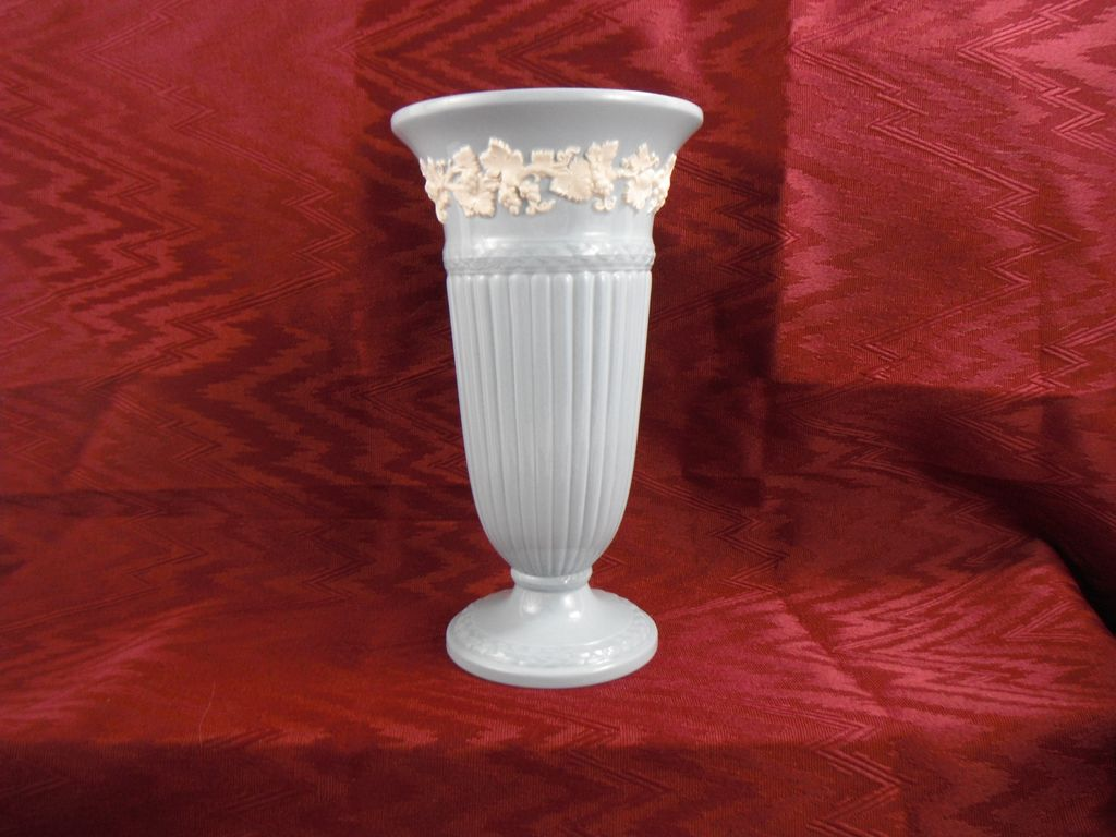 Wedgwood Queensware Blue and White Vase, 1957