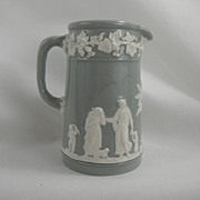 SALE Wedgwood Gray or Grey and White Queensware Pitcher, 1936