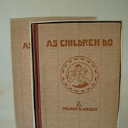 REDUCED As Children Do, 1st Edition Poetry for and about Children