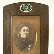 Art Deco Wood Tabletop Photo Frame