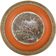 Pratt Ware Staffordshire Plate with Deer
