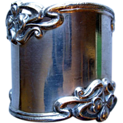Heavy Art Nouveau Sterling Napkin Ring, Shreve & Co.
