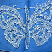 Antique Battenberg Lace Butterfly