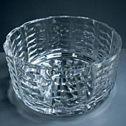 "Waterford Crystal 7"" Fruit Bowl, Modern Style!"