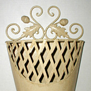 SALE Decorative Metal Planter or Letter Holder