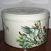"Vintage ""Feathered Friends"" Cake or Cookie Tin"
