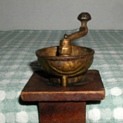 SALE Miniature Cast Iron Coffee Grinder or Coffee Mill