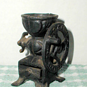 SALE R. F. Smale Miniature Cast Iron Coffee Mill