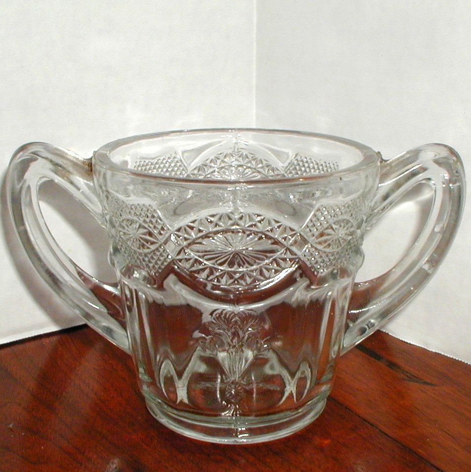EAPG Glass Spooner with Handles