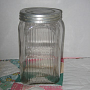 Vintage Glass Coffee Canister Jar