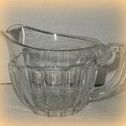 Heisey Clear Glass &quot;Narrow Flute&quot; Creamer