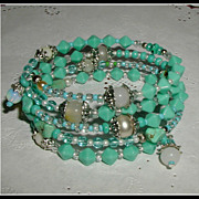 Blue Persian Dream -  Memory Wire Bracelet