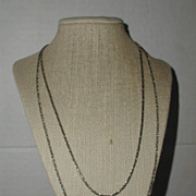 SALE Double Chain Silver-Tone Tiered Necklace