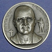 SALE Nebraska Silver Statehood Medal - Father Flanagan