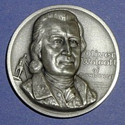 SALE Declaration of Independence Medal - Oliver Wolcott of Connecticut